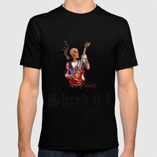 Shred it Skull guitar player  T-shirt