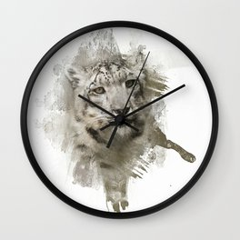Expressions Snow Leopard Wall Clock