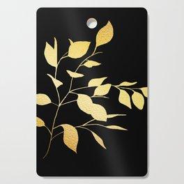 Gold & Black Leaves Cutting Board