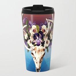 Desert Deer Skull And Flowers Travel Mug