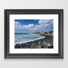 Aguadilla coast Framed Art Print