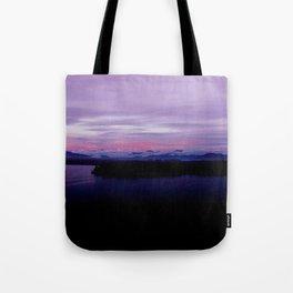 mahinapua golden hours purple reflections clouds dark Tote Bag