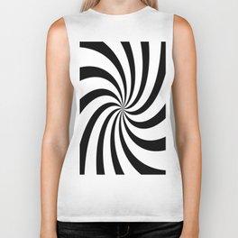 Spiral (Black & White Pattern) Biker Tank