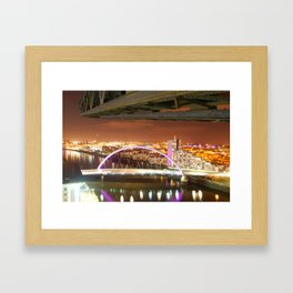 Jib & Clyde Arc Bridge. Framed Art Print