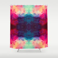 reassurance Shower Curtains featuring Reassurance Rorschach  by Caleb Troy