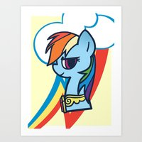 Daring Rainbow Dash Art Print