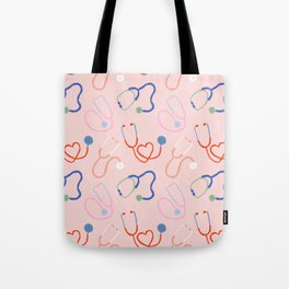 Simply Stethoscopes in Art Deco Rainbow Tote Bag