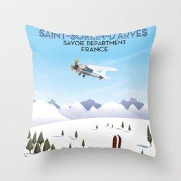 Saint-Sorlin d'Arves France. Throw Pillow