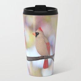 psychedelic cardinals bokeh Travel Mug