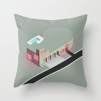 future Throw Pillows featuring Future by WKillustration