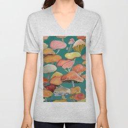 Bold Mushrooms - A Fuller Life Unisex V-Neck