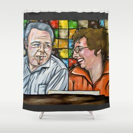 Archie & Edith Bunker  Shower Curtain