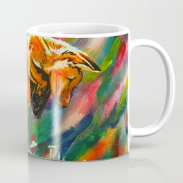 Frisky Fox in Flowers Coffee Mug