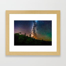 Northern Michigan Milky Way Framed Art Print