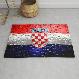 Flag of Croatia - Raindrops Rug