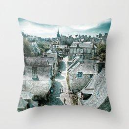Dinan's Rooftops Throw Pillow