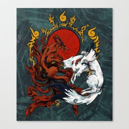 Kurama & Amaterasu Canvas Print