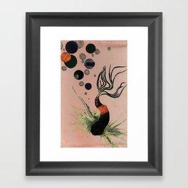Koi Bubbles Framed Art Print