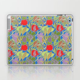 Seven Species Botanical Fruit and Grain with Blue Background Laptop & iPad Skin