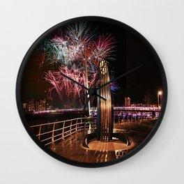 Fireworks at Swansea SA1 Wall Clock