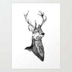 Noble Stag Art Print