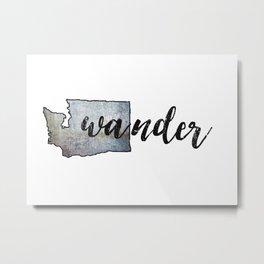 Wander Washington State, Travel Wall Art, Wander, PNW Metal Print