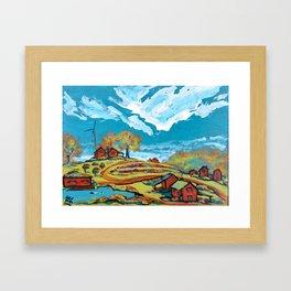 A modern idyllic rural landscape in Wales Framed Art Print