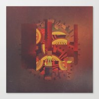 clockwork Canvas Prints featuring Clockwork by @jonblcksnds