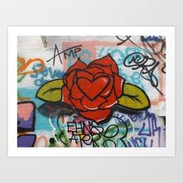 rose/heart graffitti Art Print