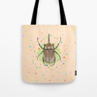 insect Tote Bags featuring Insect I by dogooder