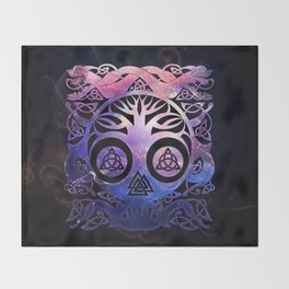 Tree of life - Yggdrasil Throw Blanket