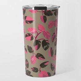 Philodendron Pink Princess Rare Tropical Houseplant Pattern Travel Mug