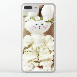 Bunny in Bloomers Clear iPhone Case