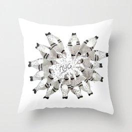 NYC Pigeons Throw Pillow