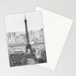 Eiffel Tower with Paris Skyline (France, Europe) Stationery Cards
