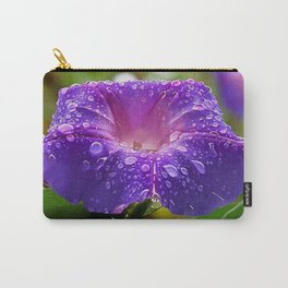 Morning Glory Petals and Dew Drops Vector Carry-All Pouch