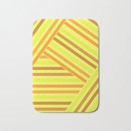 Bright yellow stripes Bath Mat