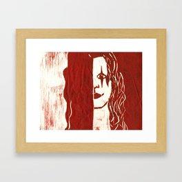 Brandon Lee Red Framed Art Print