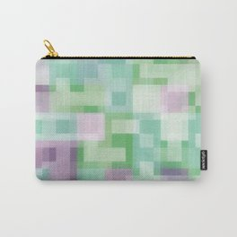 Soft Squares in Pastel Purple and Green Carry-All Pouch
