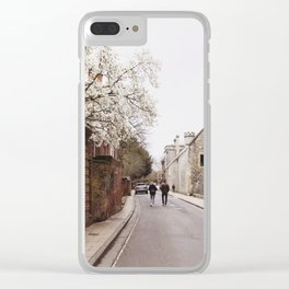 Blossom Walk in Winchester, England Clear iPhone Case