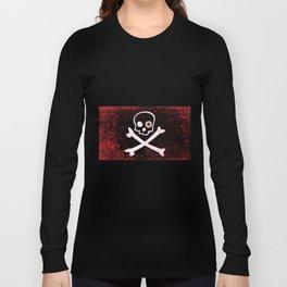 Jolly Roger With Eyeballs Long Sleeve T-shirt