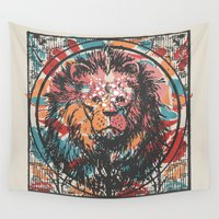 leo Wall Tapestries featuring Leo by Heinz Aimer
