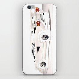 White Lamborghini Countach 1985 iPhone Skin