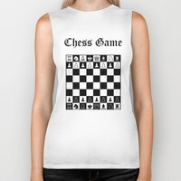 chess Biker Tanks featuring Chess Game by Maxvision