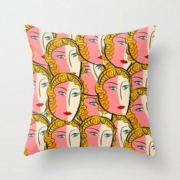 Comics Pop Girl Pattern Throw Pillow