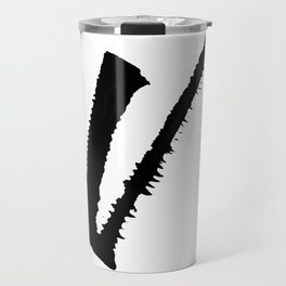 Letter V Ink Monogram Travel Mug
