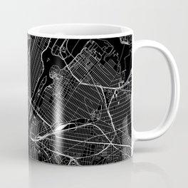 New York City Black Map Coffee Mug