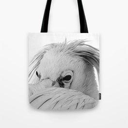 Dalmatian Pelican Portrait Tote Bag