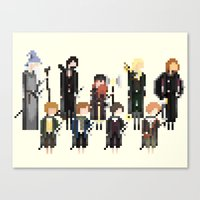 the lord of the rings Canvas Prints featuring Lord of the Rings by LOVEMI DESIGN