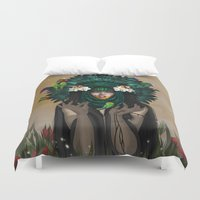 ashton irwin Duvet Covers featuring VACUITY by ANVIK